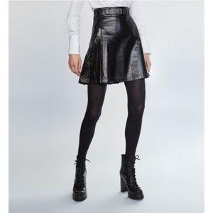 Zara Studio Leather Skirt